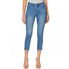 Motto Modern Stretch Denim 5-Pocket Cropped Jean