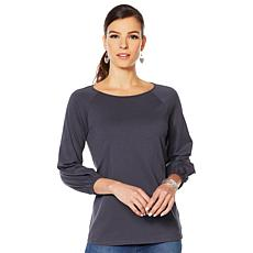 Motto Pima Cotton Bubble-Sleeve Tee