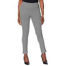 Motto Ponte Knit Pull-On Ankle Pant - Print/Solid