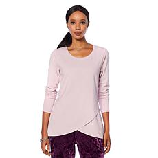 Motto Tulip-Hem Long-Sleeve Top - Fashion