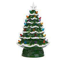 "Mr. Christmas 12"" Snow-Tipped Nostalgic Tree with Timer"