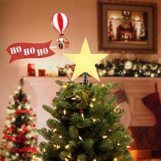 Mr. Christmas Animated Tree Topper Santa in Balloon