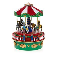Mr. Christmas Carnival Carousel Mini Music Box
