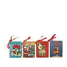 Mr. Christmas Christmas Book Ornaments - Set of 4
