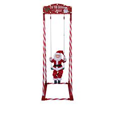 "Mr. Christmas Indoor/Outdoor 54"" Swinging Santa"