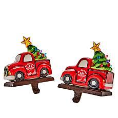 Mr. Christmas Lit Stocking Holders - Set of 2