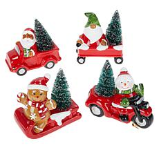 Mr. Christmas Vehicle Tree Ornaments with Gift Bags