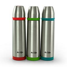 Mr. Coffee Altona 3 Piece 15 Ounce Stainless Steel Thermal Travel B...