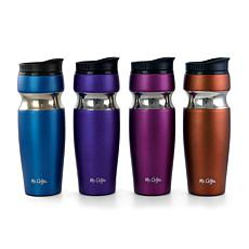 Mr. Coffee Kendrick 4 Piece 10 Ounce Stainless Steel Travel Water B...