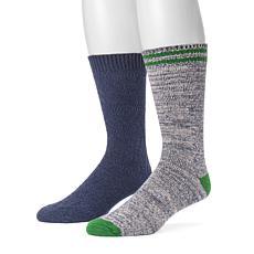 MUK LUKS 2-pair Men's Fluffy Yarn Boot Socks