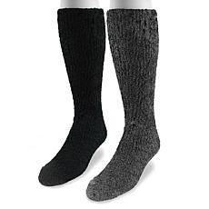 MUK LUKS 2-pair Men's Micro Chenille Socks