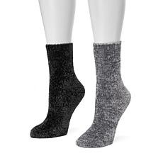 MUK LUKS Women's 2-pack Chenille Boot Socks