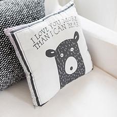 "My Baby Sam Little Black Bear Throw Pillow - 14"" x 14"""