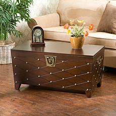 Nailhead Cocktail Table Trunk - Espresso