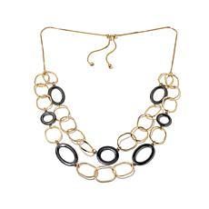 """Nancy LeWinter """"Linked in Style"""" Adjustable Necklace"""