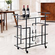 Nanetta Art Deco Bar Cart - Black
