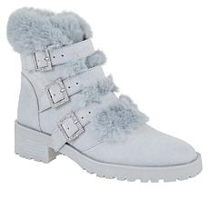 Nanette Nanette Lepore India Faux Fur Trim Combat Boot