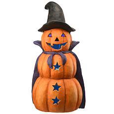"National Tree Company 19"" Three-Tiered Pumpkin with LED Light"