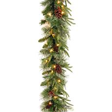 National Tree Feel Real® Colonial Garland w/ 50 Dual Color® LED Lights