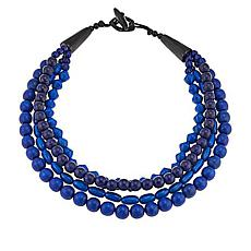 Natural Beauties Multi-Strand Wood Bead Necklace