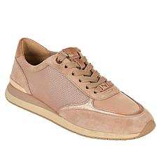 Naturalizer Lotus Leather and Fabric Lace-Up Sneaker