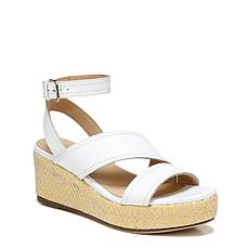 Naturalizer Ursa Leather Ankle Strap Platform Wedge Sandal
