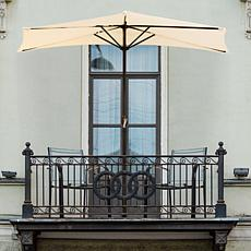 Nature Spring 9' Half-Canopy Patio Umbrella - Tan