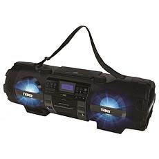 Naxa MP3 CD Bass Reflex Boombox and PA System with Bluetooth