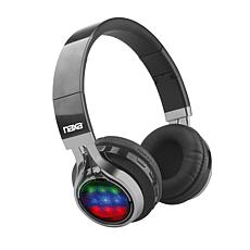 Naxa VIBE Bluetooth Foldable Headphones with Disco Lights and FM Radio