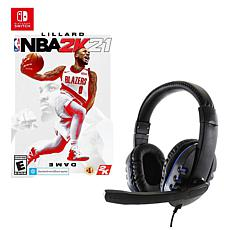 NBA 2K21 Game for Nintendo Switch with Universal Headset