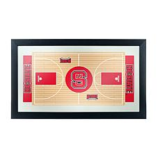 NC State Basketball Framed Full Court Mirror