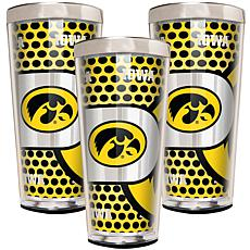 NCAA 3-piece Shot Glass Set - Iowa