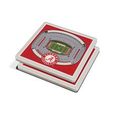 NCAA Alabama Crimson Tide 3-D Stadium Views Coaster Set