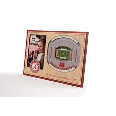 NCAA Alabama Crimson Tide 3-D Stadium Views Picture Frame