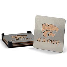 NCAA Boasters 4-Piece Coaster Set - Kansas State Wildcats