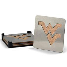 NCAA Boasters 4-piece Coaster Set - West Virginia Mountaineers
