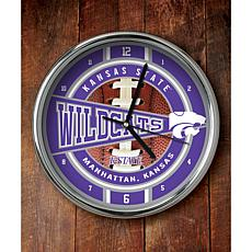NCAA Chrome Clock - Kansas State