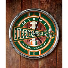 NCAA Chrome Clock - Miami
