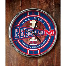NCAA Chrome Clock - Mississippi