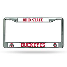 NCAA Chrome License Plate Frame - Ohio State