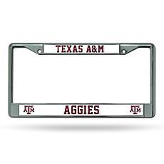 NCAA Chrome License Plate Frame - Texas A&M
