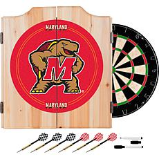 NCAA Dart Cabinet with Darts and Board - Maryland Univ