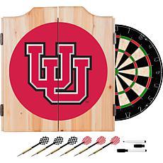 NCAA Dart Cabinet with Darts and Board - Univ of Utah