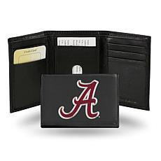 NCAA Embroidered Leather Trifold Wallet - Alabama