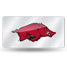 NCAA Laser Tag Silver License Plate - Arkansas