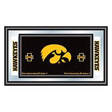 NCAA Logo and Mascot Framed Mirror - University of Iowa