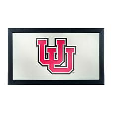 NCAA Logo Mascot Framed Mirror - University of Utah