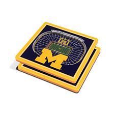NCAA Michigan Wolverines 3-D Stadium Views Coaster Set