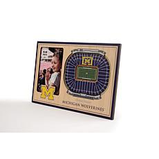NCAA Michigan Wolverines 3-D Stadium Views Picture Frame