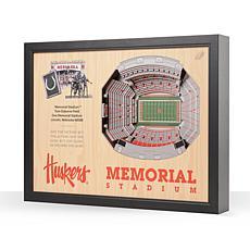 NCAA Nebraska Cornhuskers StadiumViews 3D Wall Art - Memorial Stadi...